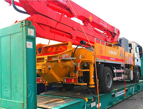 30m concrete pump truck on shipment