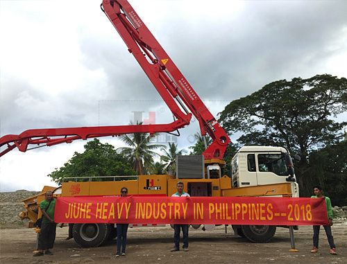 30m concrete pump truck in philippines